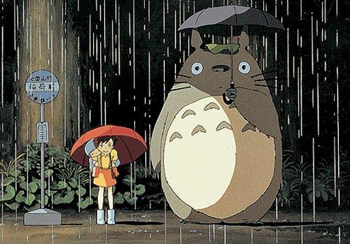Totoro sous la pluie - (c) Ghibli Studios