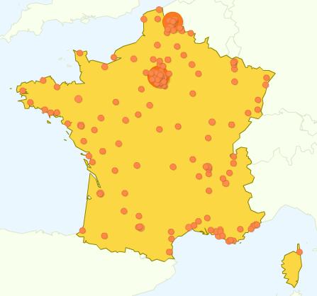 Visiteurs en France