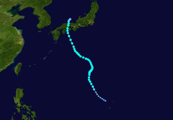 Route du typhon Talas