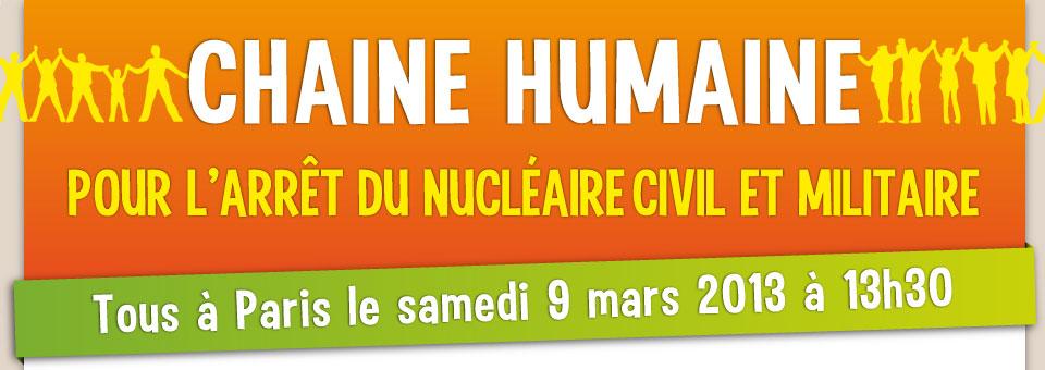 Manifestons contre le nucléaire le 9 mars à Paris !