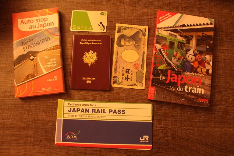 Préparation du voyage au Japon
