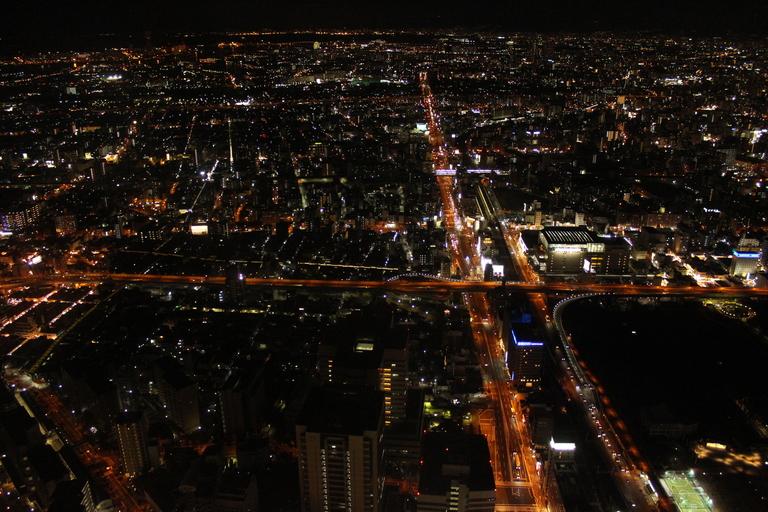 Vue sur Osaka depuis l'observatoire du Abeno Harukas